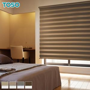 【遮光】TOSO 調光ロールスクリーン ビジック ゼブラシークル