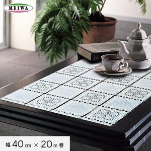 明和グラビア ビニール製 テーブルランナー マイパールレース ロングレース 40cm幅×20m巻 M-198
