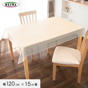 明和グラビア ビニール製 テーブルクロス マイパールレース ロングレース 120cm幅×15m巻 M-289