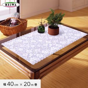 明和グラビア ビニール製 テーブルランナー マイパールレース ロングレース 40cm幅×20m巻 M-494