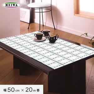 明和グラビア ビニール製 テーブルランナー マイパールレース ロングレース 50cm幅×20m巻 M-508
