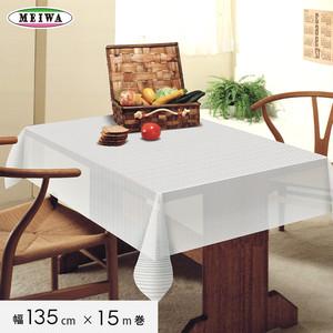 明和グラビア ビニール製 テーブルクロス マイパールレース ロングレース 135cm幅×15m巻 M-727