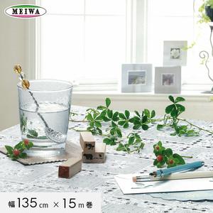明和グラビア ビニール製 テーブルクロス マイパールレース ロングレース 135cm幅×15m巻 M-733