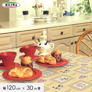 明和グラビア テーブルクロス ビニール製 MGフィルム 120cm幅×30m巻 MG-6495