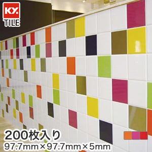 KYタイル 内装・装飾タイル イプトーン フォンセーヴ 100mm角片面取 200枚入
