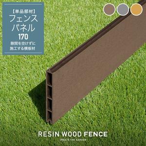 人工木フェンス RESTA RESIN WOOD FENCE フェンスパネル170