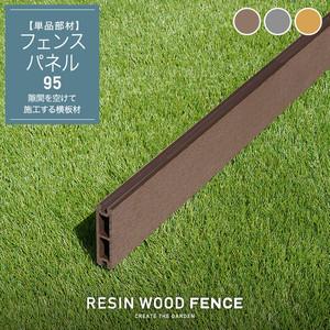 人工木フェンス RESTA RESIN WOOD FENCE フェンスパネル95