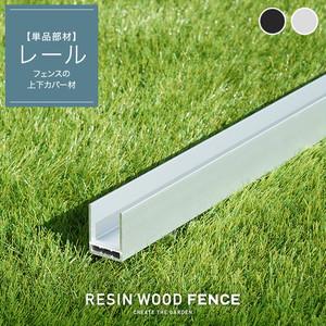 人工木フェンス RESTA RESIN WOOD FENCE レール (上下共通)