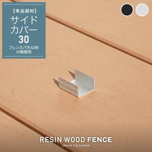人工木フェンス RESTA RESIN WOOD FENCE ポストサイドカバー30