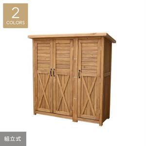 三つ扉木製大型収納庫 1555×630×1595mm