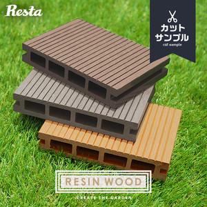 RESTAオリジナル 人工木ウッドデッキ RESIN WOOD デッキ材カットサンプル 3色セット